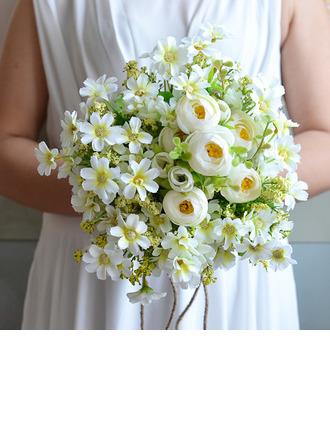 Semplice ed elegante Free form Fiore di seta Mazzi da sposa/Mazzi damigella d'onore - Mazzi da sposa