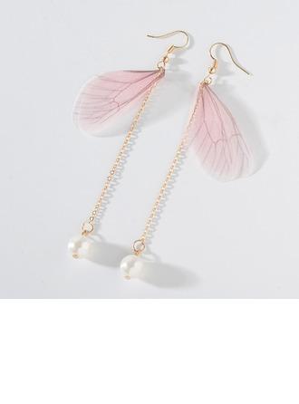 Exquisito Aleación La perla de faux con Perlas de imitación De mujer Pendientes de la manera