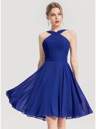 V-Neck V-neck Other Colors Chiffon Dresses