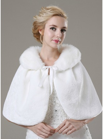 Faux Fur Fashion Shawl