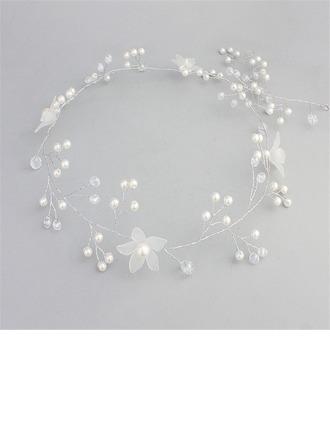 Vakkert Crystal/Imitert Perle/Frostet blomst Pannebånd (Selges i ett stykke)
