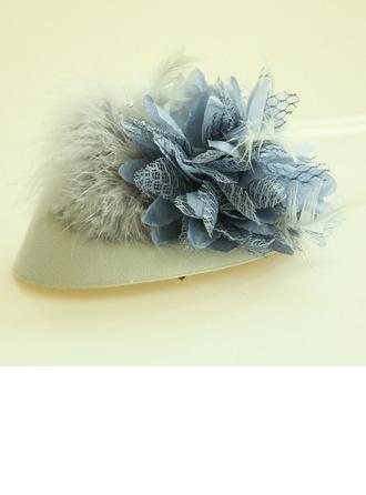 Ladies Beautiful Feather/Silk Flower/Flannelette Forehead Jewelry