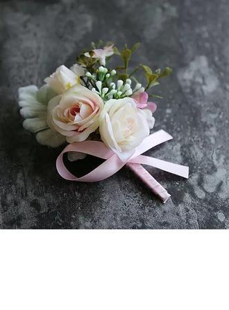Mid Hand Gebunden Künstliche Blumen Blumen-Sets (Satz von 2) - Armbandblume/Knopflochblume