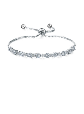 Anti-oxydation Déclaration Bracelets De Mariée Bracelets de demoiselle avec Zircon cubique -