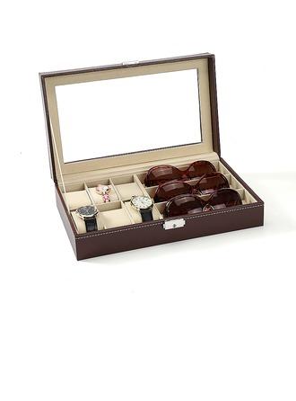 Groomsmen Regali - Stile Classico Pelle Guarda la scatola Scatola per occhiali da sole