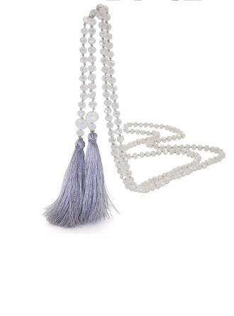 Lovely Kristalli Silkki jossa Tupsut Naisten Muoti kaulakoru
