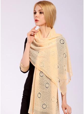 Сплошной цвет облегченный/негабаритный/Платки Шелковые Шелковый шарф