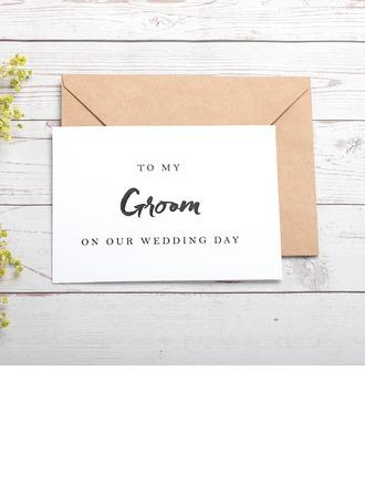 Groom Gaver - Elegant Kort papir Bryllupsdagskort