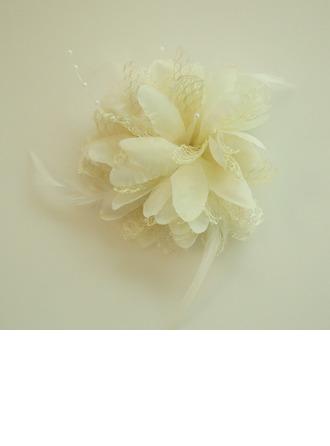 Damska Piękny Kwiat jedwabiu Czoło Biżuteria