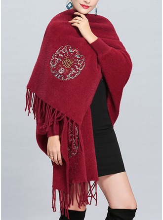 Tassel Cold weather velvet Poncho