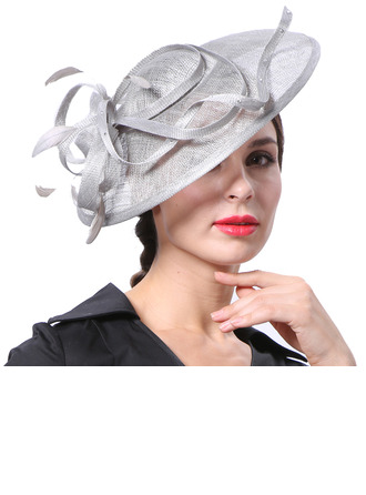 Dames Glamour/Élégante/Jolie Batiste avec Feather Kentucky Derby Des Chapeaux/Chapeaux Tea Party