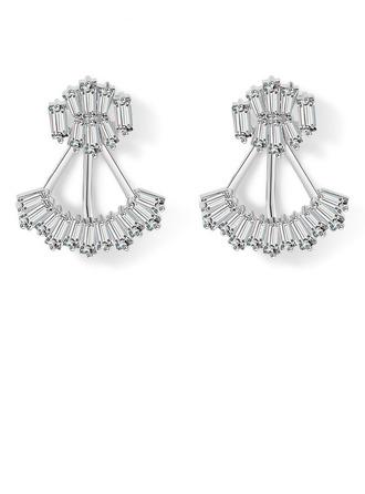 Damen Stilvoll Kupfer/Zirkonia Zirkonia Ohrringe Ihr