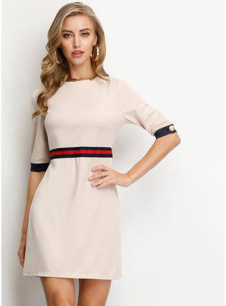 Kulatý Výstřih Polyester Módní šaty