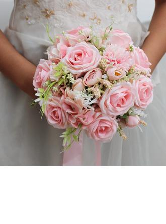 Elegantní Kolo Silk Flower Svatební Kytice - Svatební Kytice