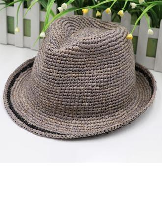 Menn Glamorøse/Elegant/Enkel Raffia Strå Fedora Hat/Kentucky Derby Hatter