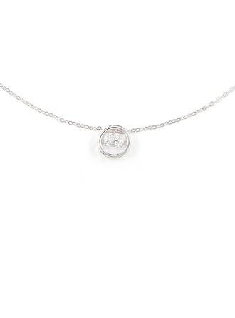 Stříbro Kruh Přívěsek náhrdelník