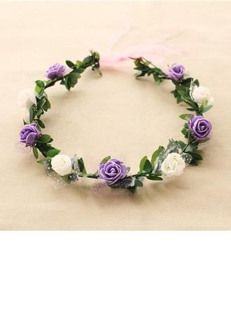 Belle seule fleur Rond Tissu Coiffure Fleur -