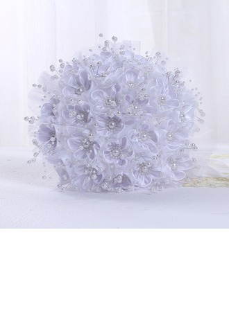 Round Ribbon/PE/Imitation Pearl Bridal Bouquets -