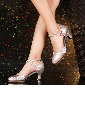 De mujer Cuero Tacones Sala de Baile Swing Zapatos de danza