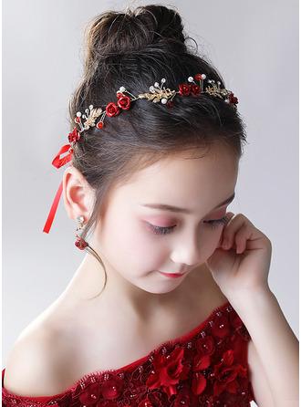 Legierung/Kristall mit Blume Stirnbänder/Ohrringe (Satz mit 2 Stück)