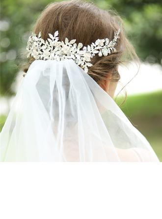 Dames Mooi Kristal/Legering Kammen & Haarspeldjes met Kristal (Verkocht in één stuk)