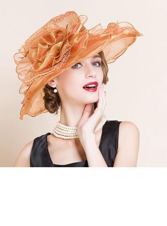 Sonar Naisten Muoti/Loistokkaat/Hieno Organzanauha jossa Kukka Levyke hattu/Kentucky Derbyn hatut