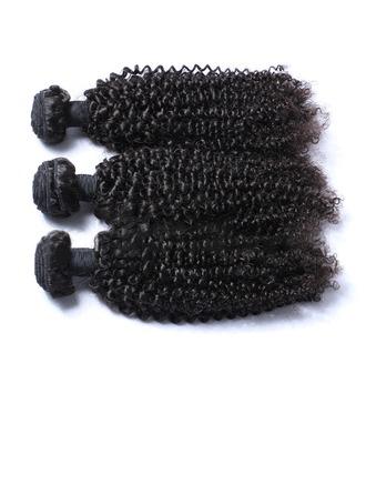 4A No remy Kinky Curly Cabello humano Postizo de cabello humano (Vendido en una sola pieza) 100g