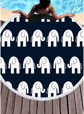 Retro /Årgang rund/attraktiv Strand håndkle
