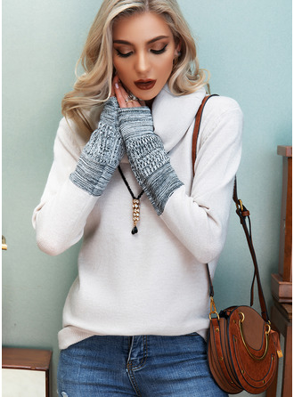 Cowl Neck Casual Print Sweaters