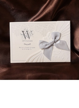 Blommig Stil Wrap & Pocket Invitation Cards med Stråkar (Sats om 50)