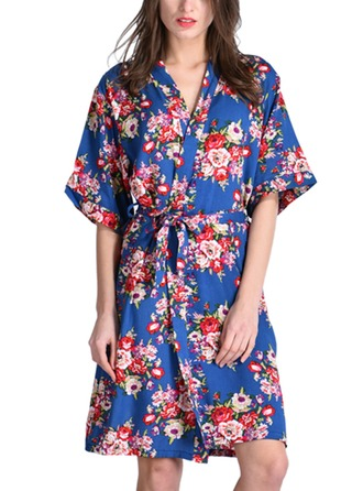 Cotton Bride Bridesmaid Mom Floral Robes