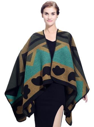 Geometrisk tryck överdimensionerad/Sjal/attraktiv Akryl/Umelé Vlna Fyrkantig halsduk