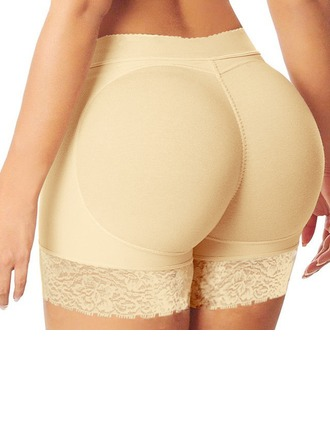 Women Casual Polyester/Chinlon Breathability Mid-Rise Shorts Shapewear