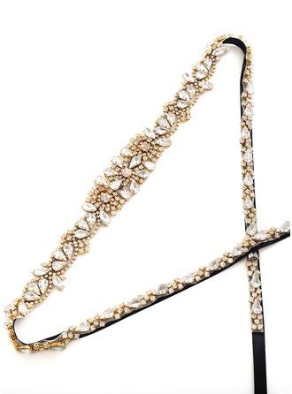 Maravilloso Satén Fajas con Diamantes de imitación