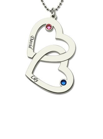 Individualisiert Damen Ewige Liebe mit Runde Zirkonia Name/Graviert Halsketten Ihr/Blume Mädchen