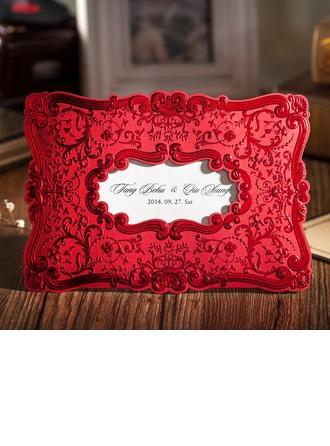 Individualisiert Blumen-Stil Wrap & Pocket Invitation Cards (Satz Von 50)