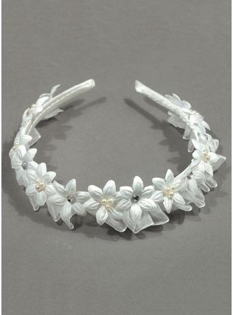Diamantes de imitación con Flor Diademas