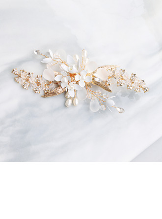 Ladies Rhinestone/Alloy/Imitation Pearls Hairpins (Sold in single piece)