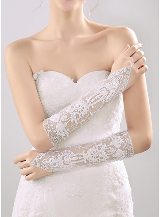 Nylon Elbow Length Bridal Gloves