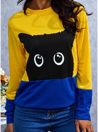 Animal Round Neck Long Sleeves Sweatshirt