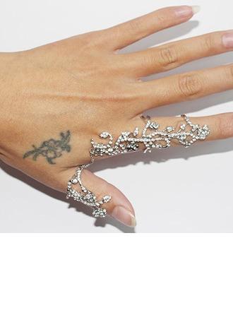 Beautiful Alloy With Rhinestone Girls' Fashion Rings