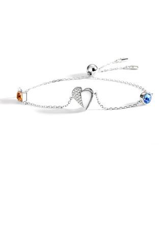 Anti-oxidation Delikat kæde Charmarmbånd Bolo armbånd med hjerte -
