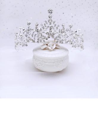 Nydelig Rhinestone/Legering Tiaraer med Perle (Selges i ett stykke)