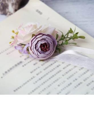 Mão-amarrado Flores Artificiais Buquê de pulso (Vendido em uma única peça) -