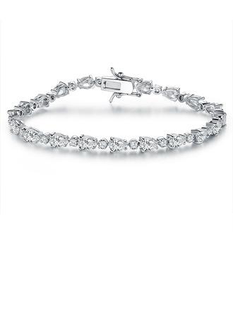 Anti-oxidatie Tennis Bruids armbanden Bruidsmeisje armbanden met Kubieke Zirkonia -