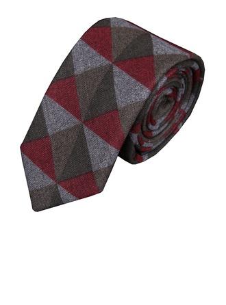 Grid Wool Tie
