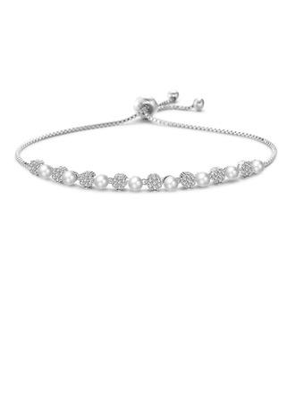 Beau Zircon de Cuivre avec Zircon de Bracelets de mode (Vendu dans une seule pièce)
