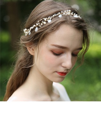 Ladies Beautiful Crystal/Imitation Pearls Headbands With Venetian Pearl