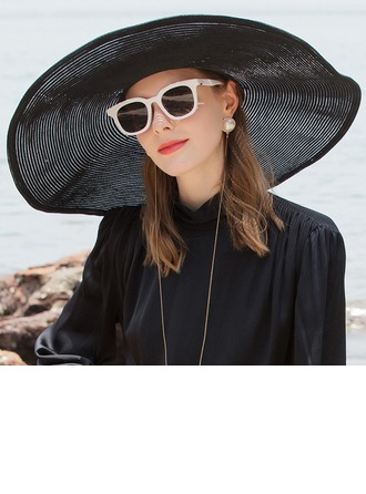 Ladies' Glamourous/Classic/Elegant/Simple/Nice Polyester With Imitation Pearls Beach/Sun Hats