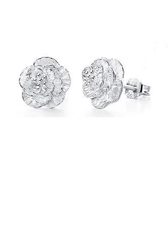 Beautiful Silver Girls' Fashion Earrings